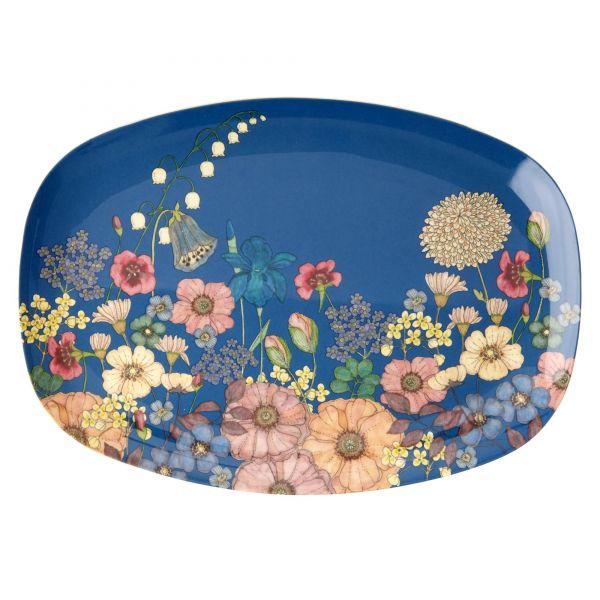 Melamin Servierteller Flower Collage - Print von Rice
