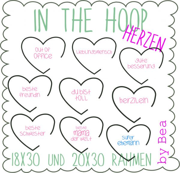 IN THE HOOP MAXIHERZEN (18x30 und 20x30 )