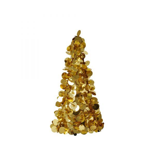 Deko-Weihnachtsbaum in Gold von Rice