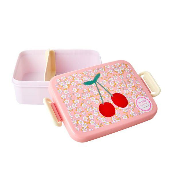 Melamin Kids Lunch Box flowers and cherry print von Rice