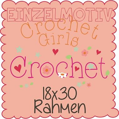 Einzelmotiv Crochet Girls 18x30