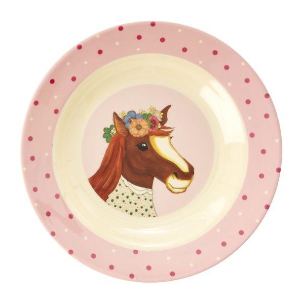 Melamin Kids Bowl Farm Animals Print