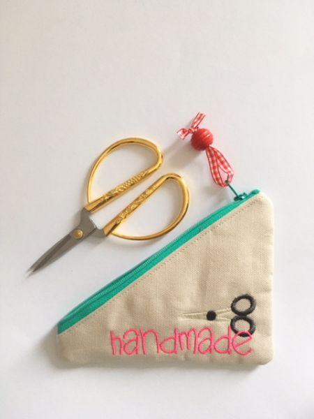 """Etui """"Handmade"""" mit Schere"""