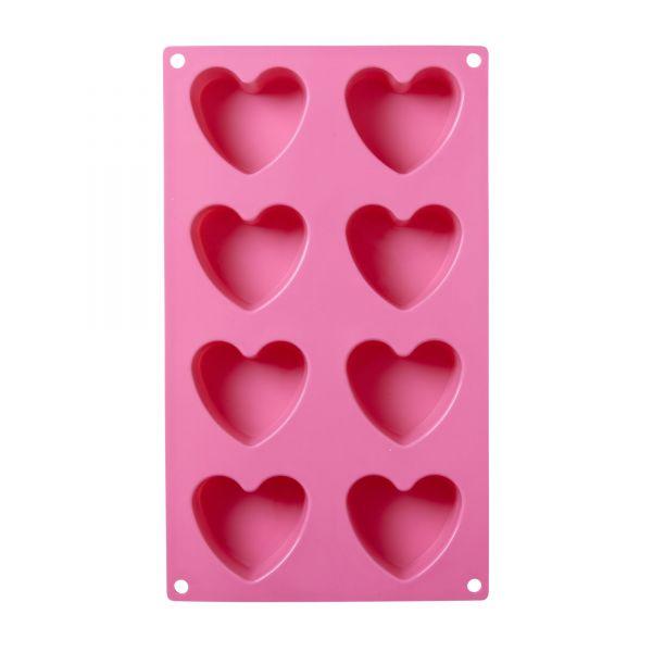 Gussform Heart Silikon pink von Rice