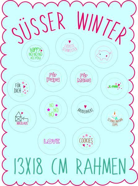 Süsser Winter 13x18