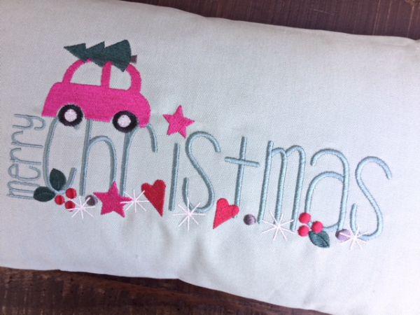 Kissen - Happy Holidays 35x50 cm
