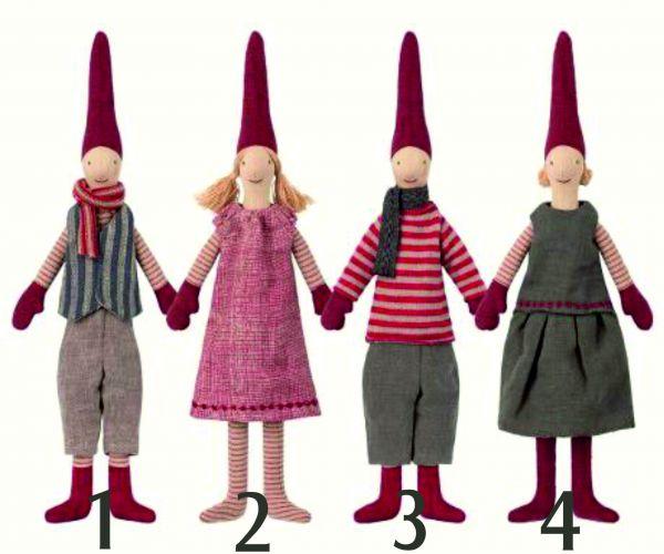 Wichtel - Mini , (2) Mädchen mit rosaroten Kleid