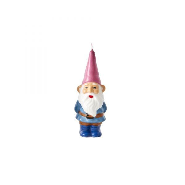 """Kerze """"Gnome"""" mit Pink Mütze von Rice"""
