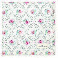 Stoffserviette Daisy pale grey von GreenGate