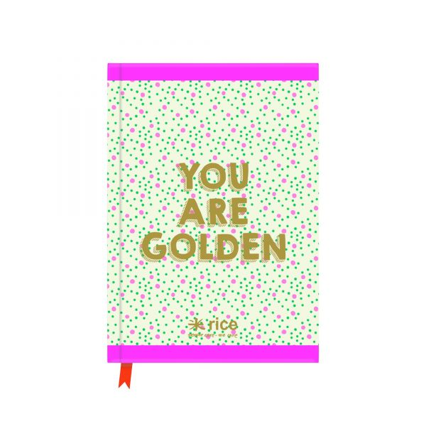 A5 Notizbuch You are Golden von Rice