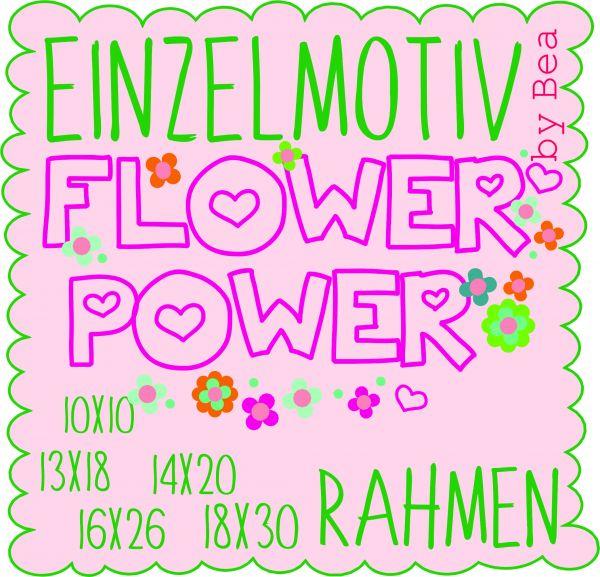 Schriftzug Flower Power