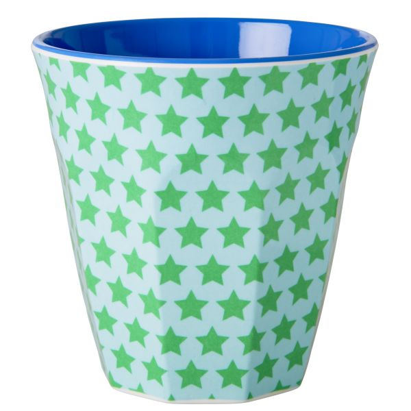 Melamin Becher two tone star print von Rice