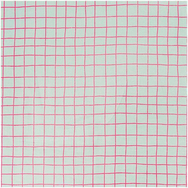 Baumwollstoff beschichtet von Rico Design - karo mint pink