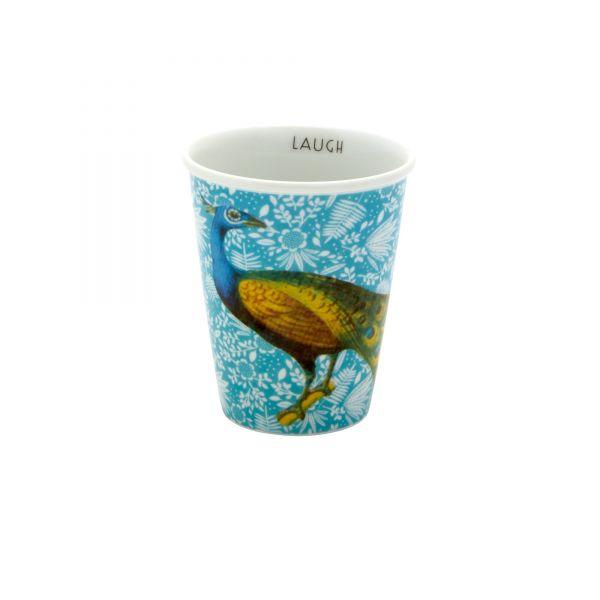 Porcelan Becher peacock von Rice