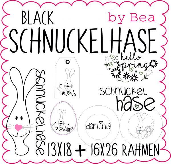 Black Schnuckelhase (13x18 und 16x26)