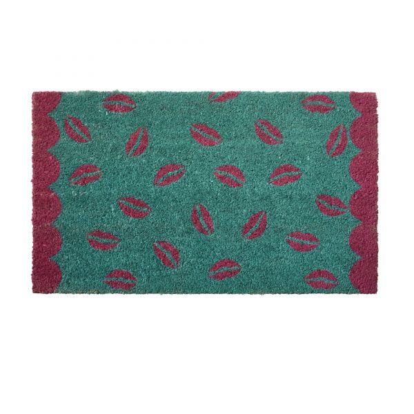 Fußmatte aus Kokosfasern mit - Kussmund - Print von Rice