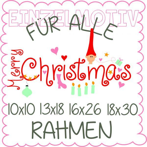 Merry Christmas für alle ( Alle Rahmengrößen )
