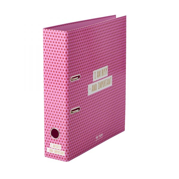 Ordner DIN A 4 Pink mit Star print