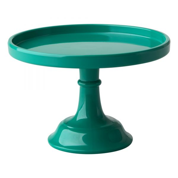 Melamin XS Cake Stand in Dark Green von Rice