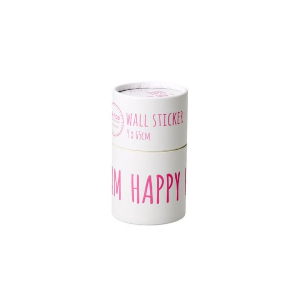 "Wandsticker ""I AM HAPPY HERE"" in pink von Rice"