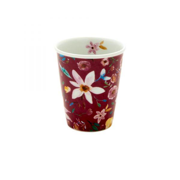Porcelan Becher bordeaux selmas flowers von Rice