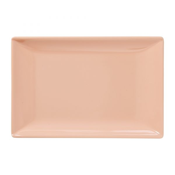 Melamin Sushi - Tray SHINE-Colour in Soft Coral e von Rice