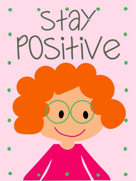 Postkarte - DIY - stay positive