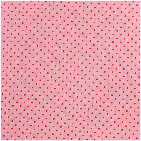 Baumwollstoff von Rico Design - Rosa mit roten Punkten