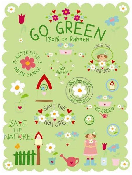 GO GREEN 13x18