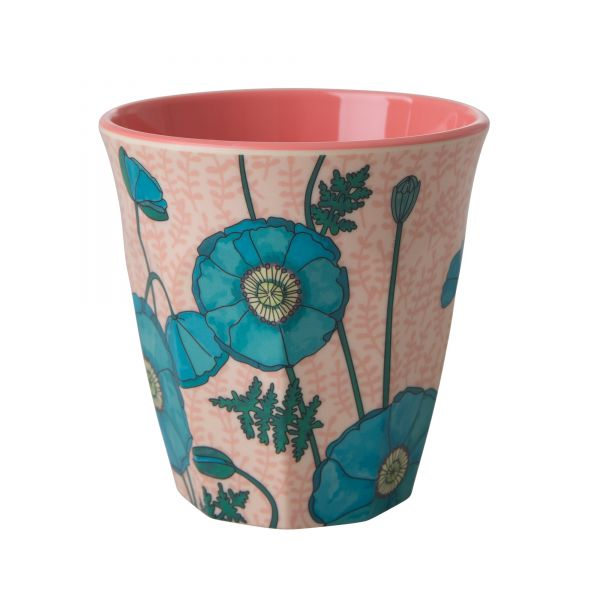 Melamin Becher Blue Poppy-print von Rice