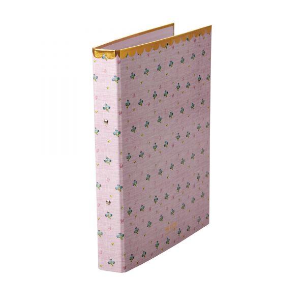 Ordner DIN A 4 Pink mit Flower print