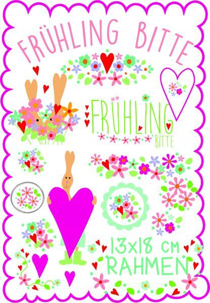 Frühling Bitte 13x18