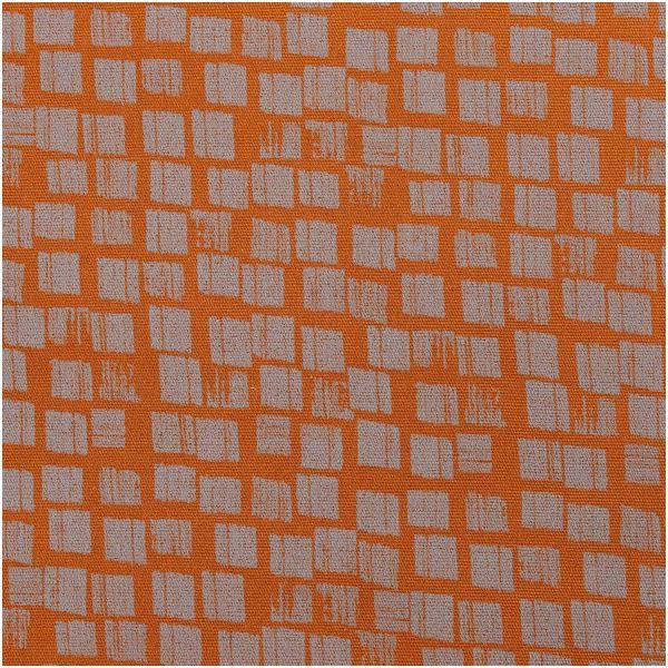 Canvas Baumwollstoff von Rico Design braun mit grauen kästchen
