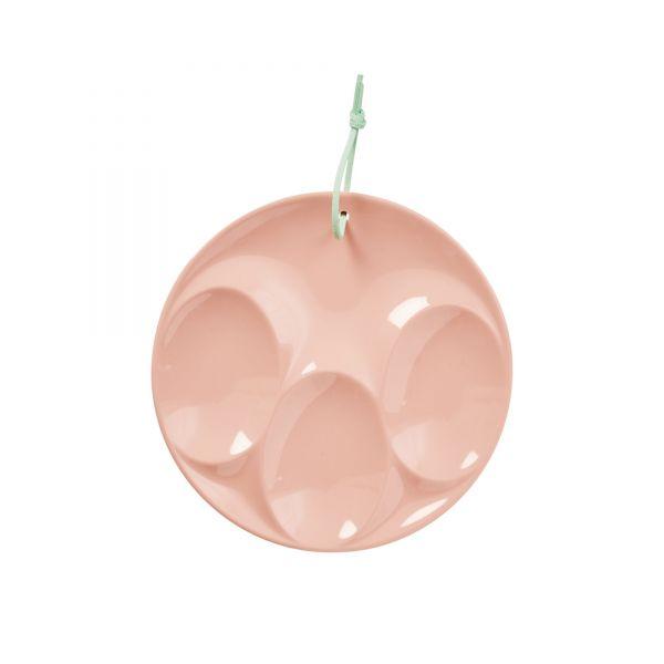Melamin Spoos Rest (Ablage für Löffel) in rosa von Rice