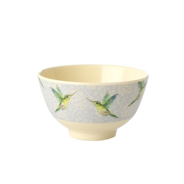 Mini Melamin Bouwl hummingbird print von Rice