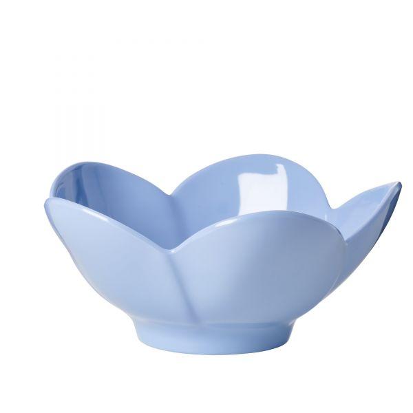 Melamin Schale in Blumenform (Blau)von Rice