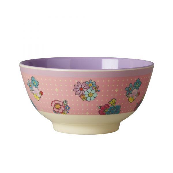 Melamin Schale with floral stitch print von Rice
