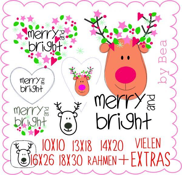 Merry & Bright ( Alle Rahmengrößen )