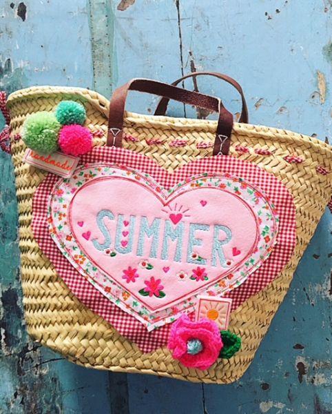 """Sommer-Korb, """"SUMMER"""" by Bea"""