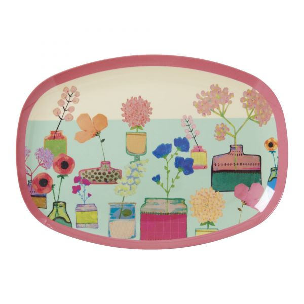 Melamin Servierteller mini flower display print von Rice