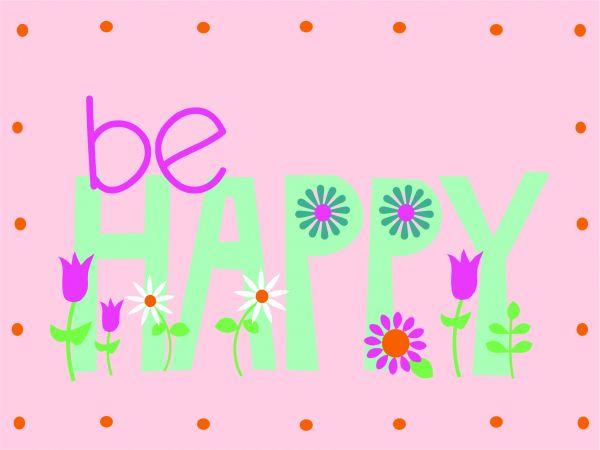 Postkarte - DIY - BE HAPPY
