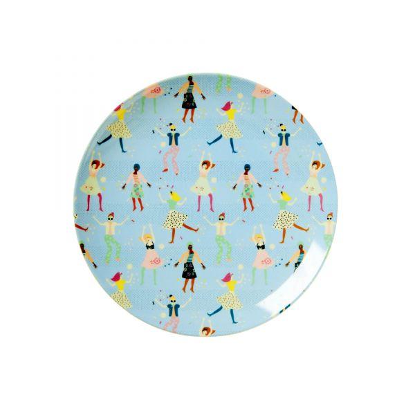 Melamin Teller klein `Dancer`- Print von Rice