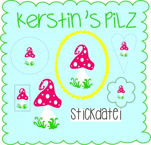 Stickdatei - Kerstin`s Pilz