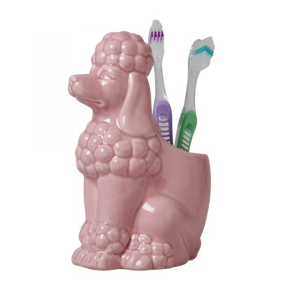 """Zahnputzbecher """"Pudel"""" in Pink von Rice"""