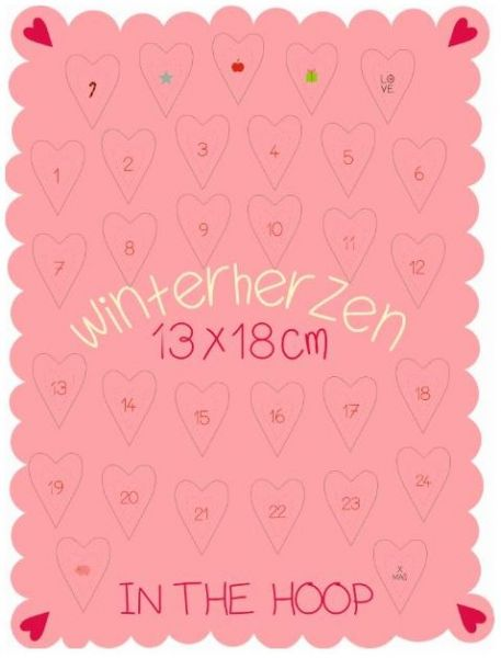 Winterherzen 13x18