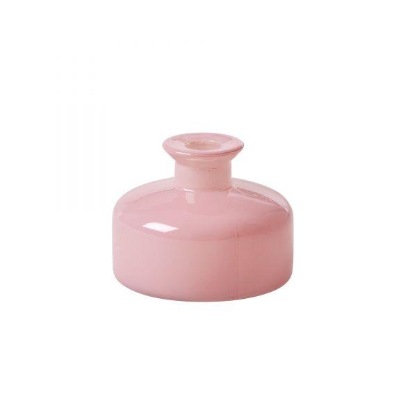 Vase aus Glas in Soft Pink von Rice