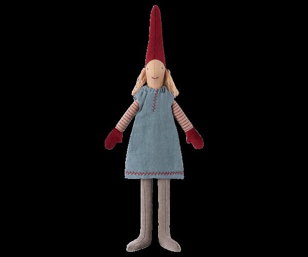 Wichtel - Mini , Mädchen mit blauen Kleid