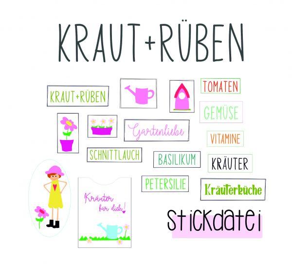 Stickdatei - Kraut + Rüben