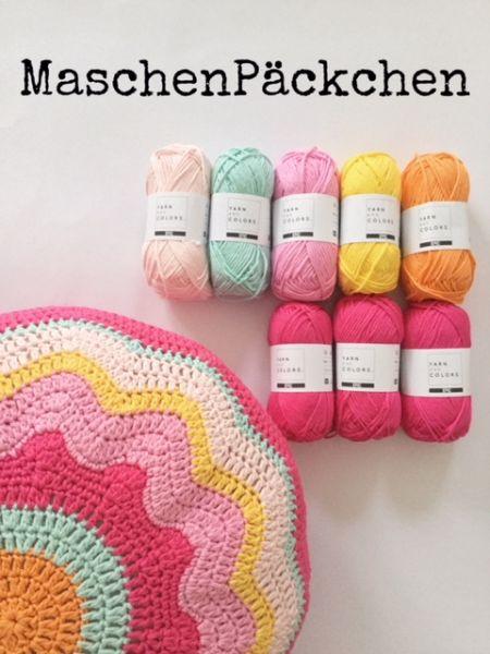 MaschenPäckchen - Blumenkissen
