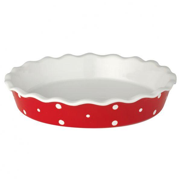 Pie dish Dot red von GreenGate